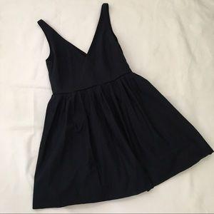 📚J. Crew Navy V Neck Twirl Dress